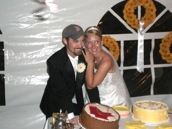 Red Socks groom cake