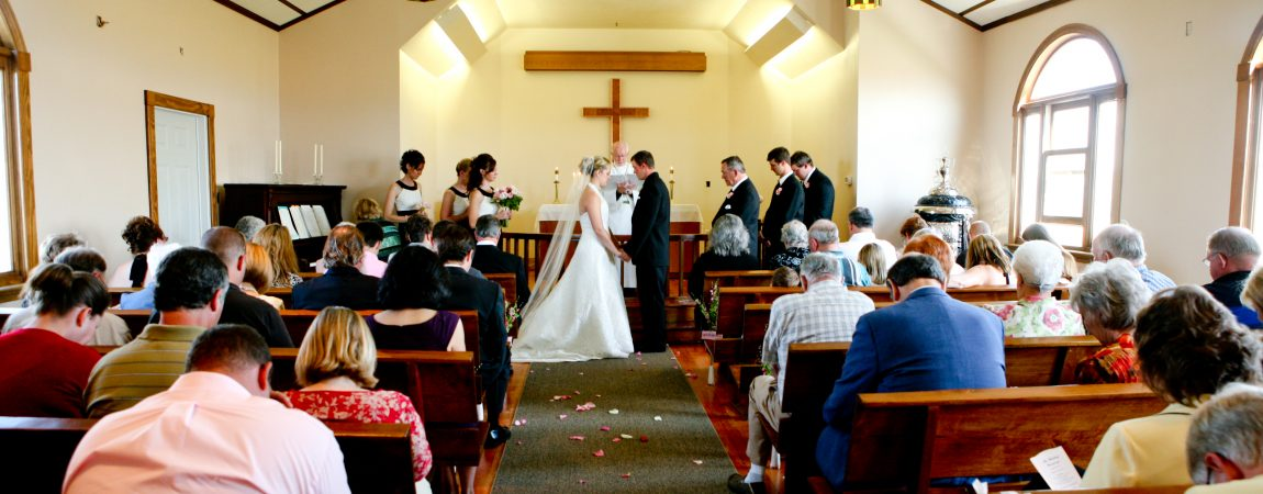 Church wedding ceremony in Billings, Montana
