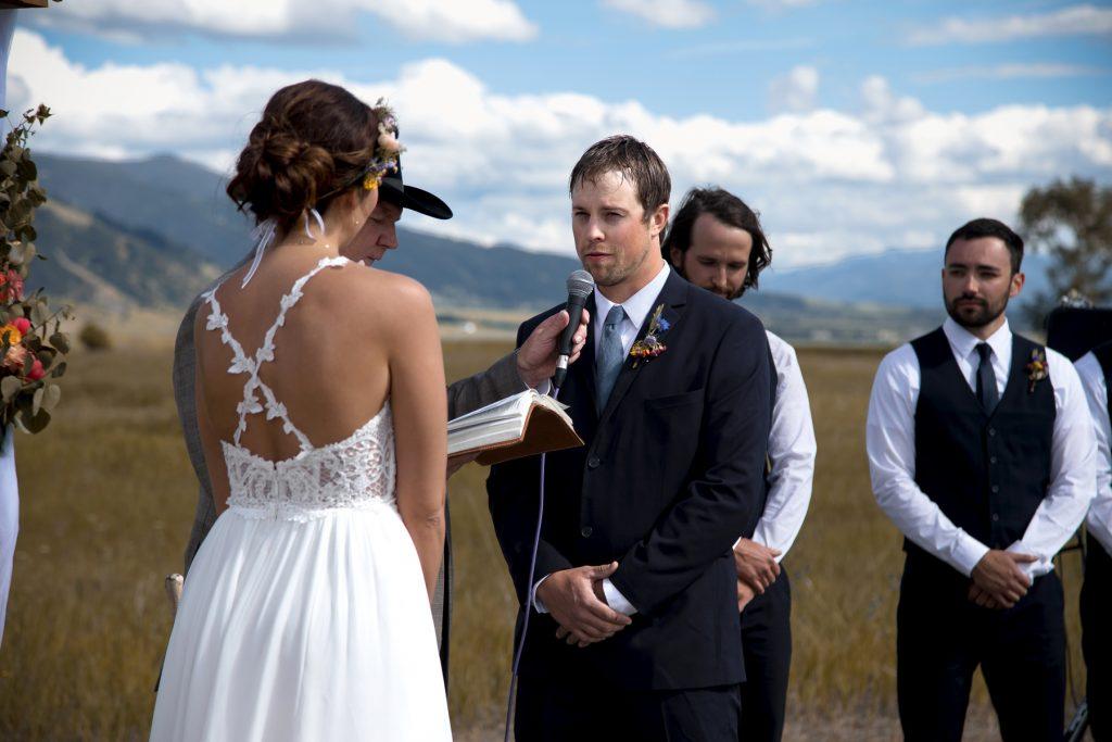 Montana outdoor ceremony