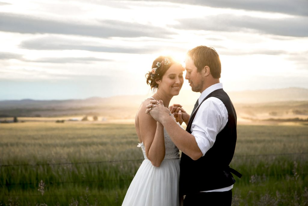 Montana Sunset wedding pictures