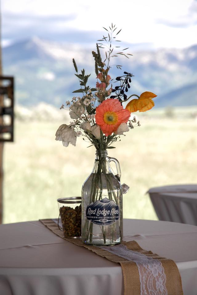 Montana wildflowers for cocktail hour