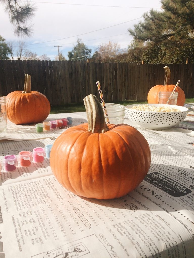 Kids Pumpking Painting Party