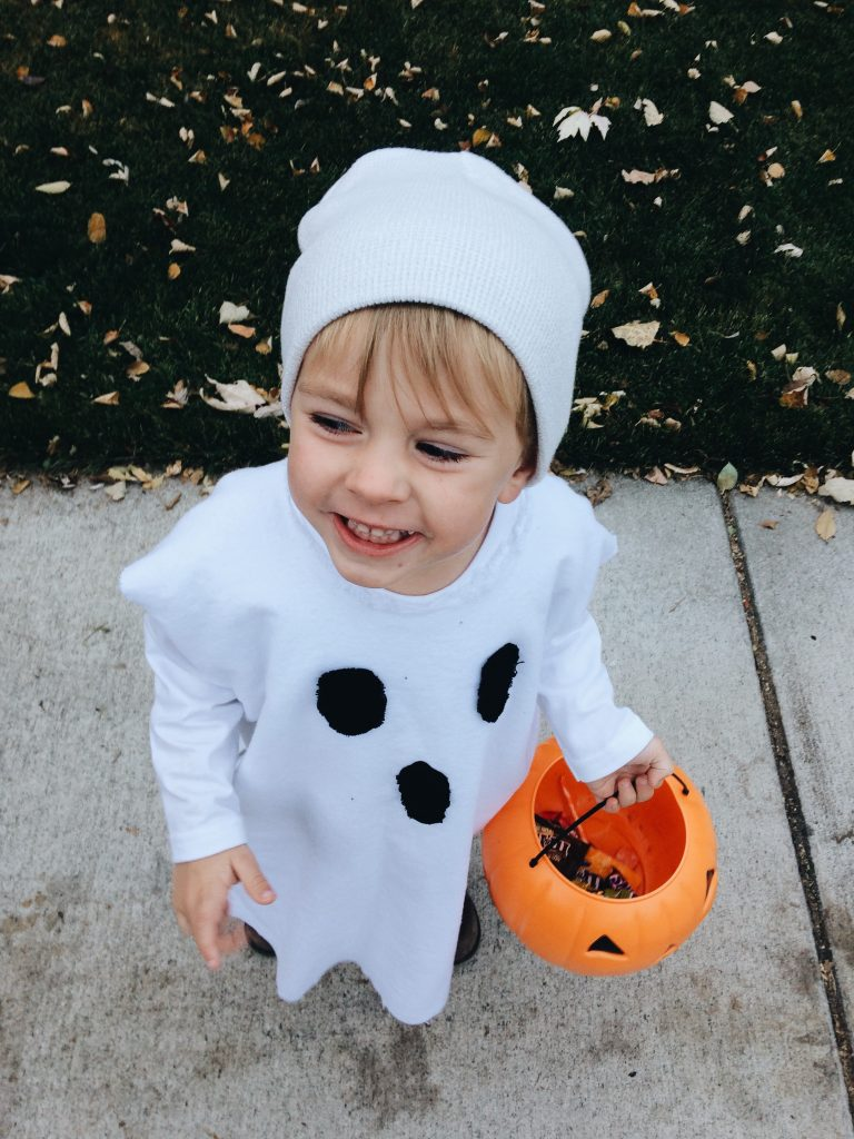 kids DIY ghost costume