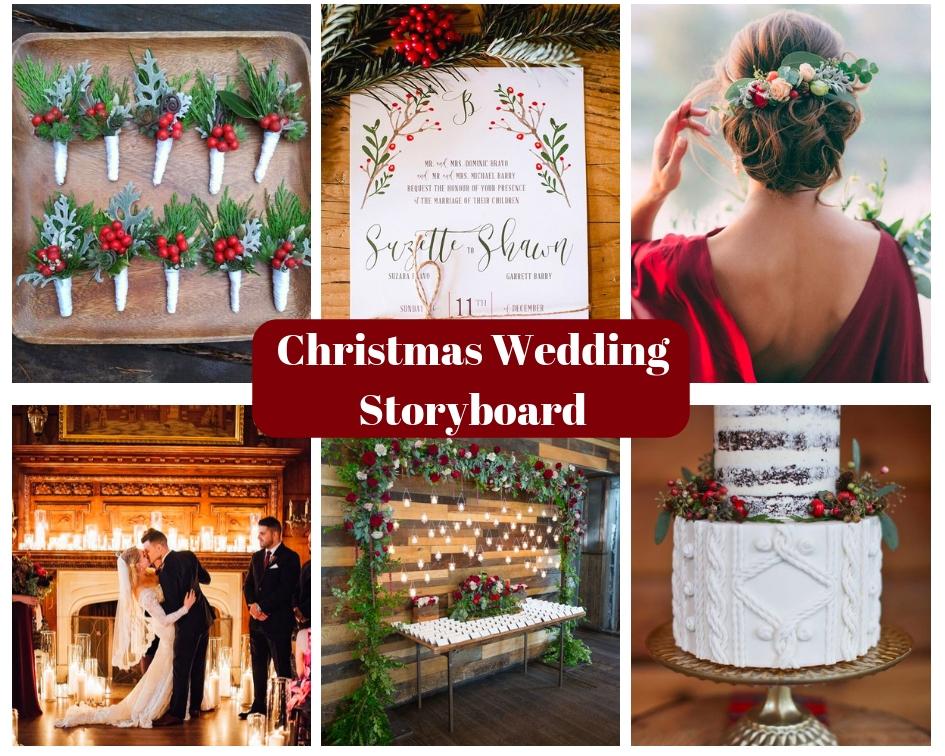 Christmas Wedding Storyboard