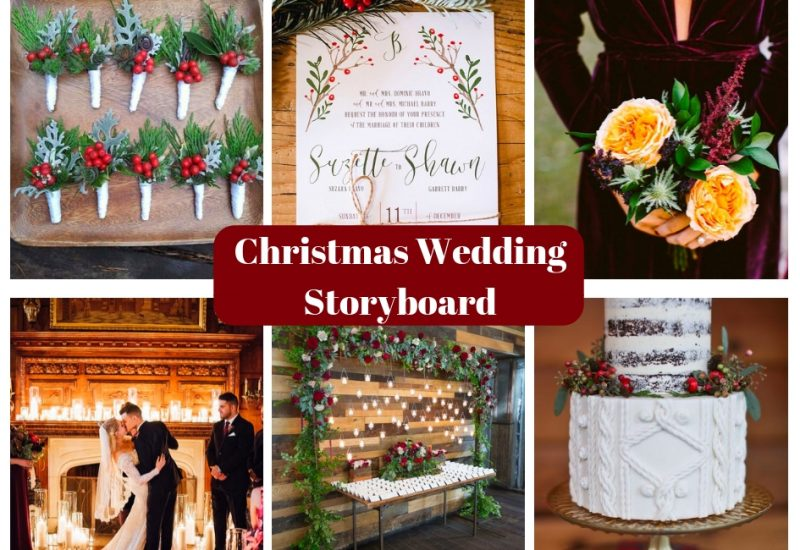 Christmas Wedding Storyboard