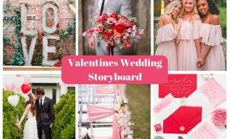 valentine's wedding storyboard