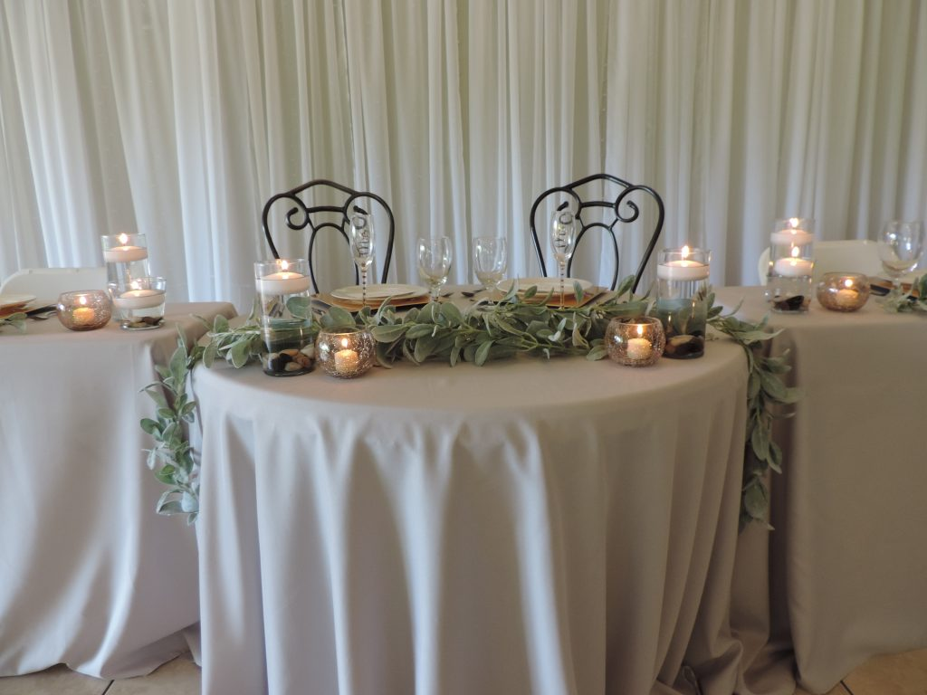 Head Table for wedding reception