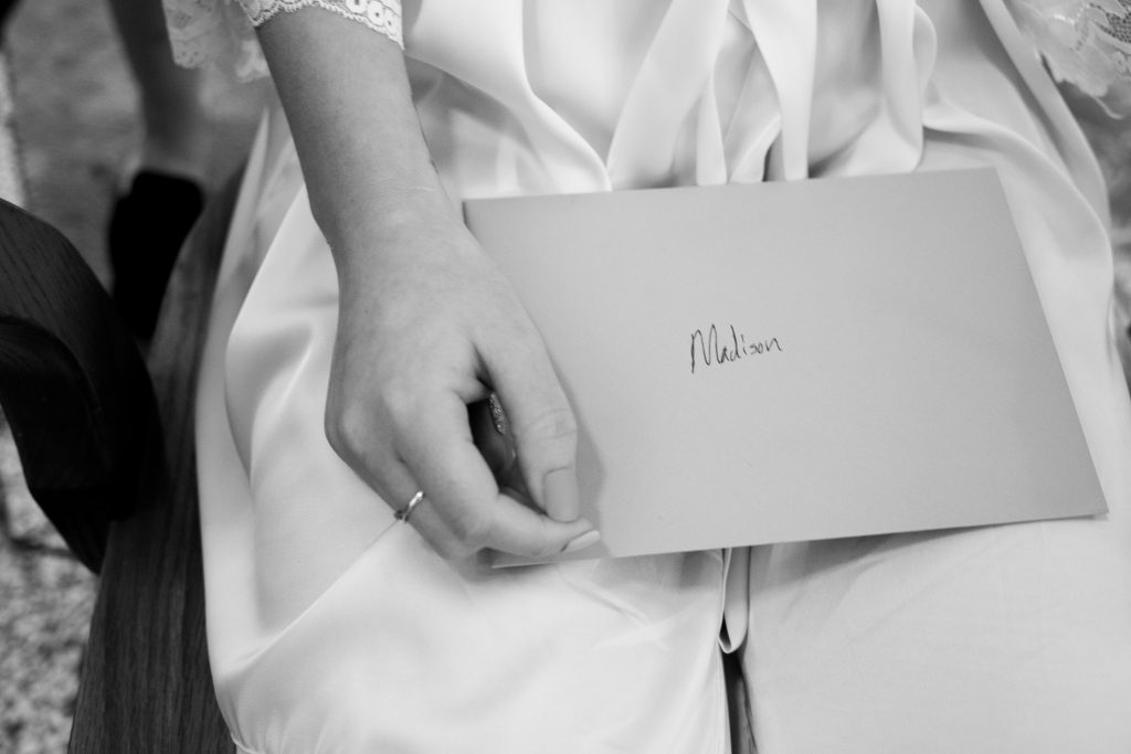 letter to the bride from her fiance